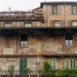 Verona (Veneto, Italy), Piazza Erbe, historic house with frescos - Zdjęcie stockowe