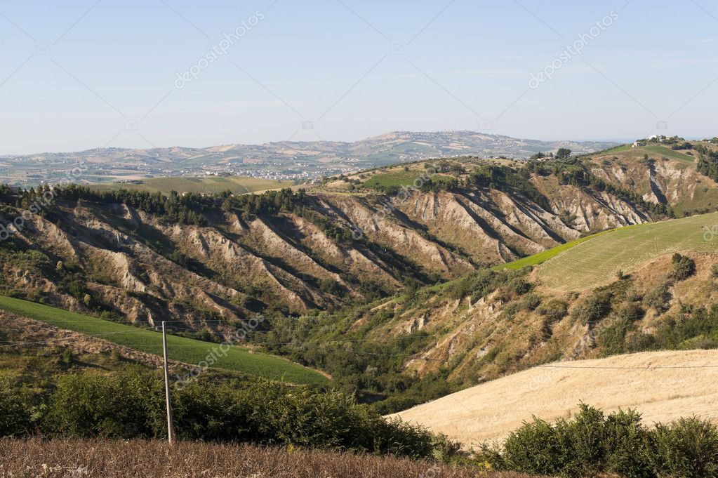 Atri Natural Park (Teramo, Abruzzi, Italy), landscape at summer — Stock Photo #6215907