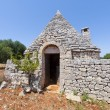 Murge (Puglia, italy) - Trullo and olive trees — Stock Photo