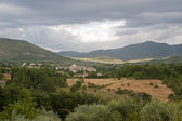 Landscape in Lazio (Italy) near Rieti at summer — Stock Photo