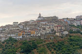 Basilicata (Potenza) - Oppido Lucano, ancient town and olive tre — Stock Photo