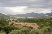 Landscape in Lazio (Italy) near Rieti at summer — Stock fotografie