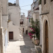 Peschici (Gargano, Puglia, Italy) a street of the old village — Zdjęcie stockowe