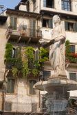 Verona (Veneto, Italy), Piazza Erbe, historic square with Roman — Stock Photo