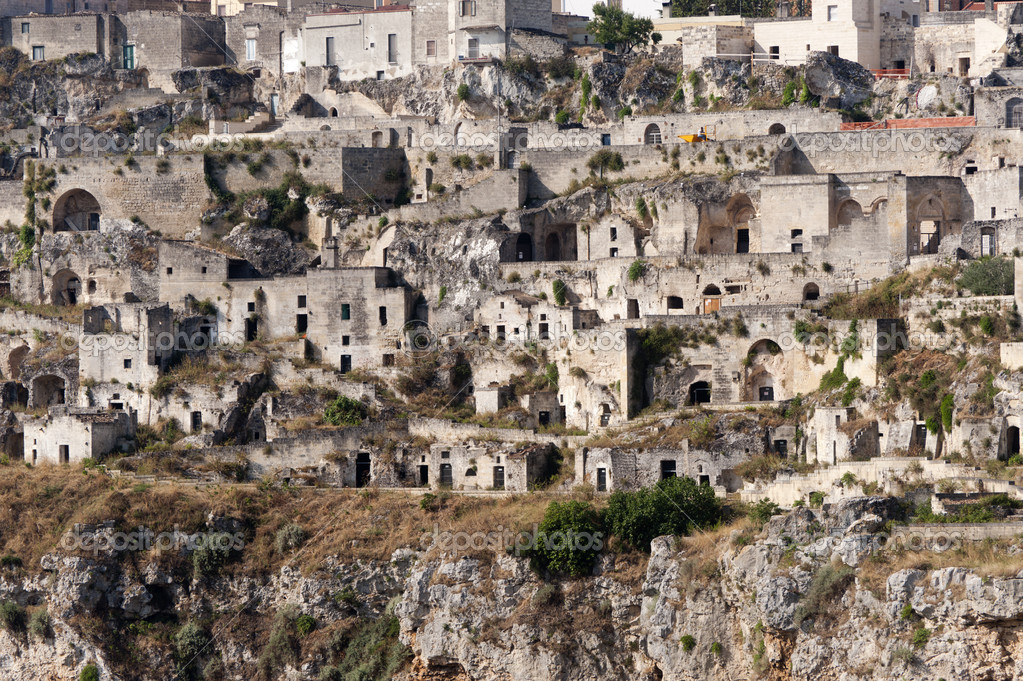 Matera (Basilicata, Italy) - The Old Town (Sassi), Unesco World Heritage Site — Stock Photo #6334535