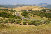 Landscape in Basilicata (Italy) near Acerenza at summer — Stock Photo