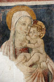 Narni (Italy): Virgin Mary and Child, fresco in a church — Stock Photo