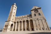 Trani (Puglia, Italy) - Medieval cathedral in romanesque style — Stock Photo