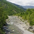 The Trebbia river at summer - Stock Photo