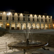 Stock Photo: Medieval square in Arezzo (Tuscany, Italy) at night