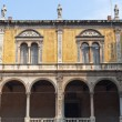 Verona (Veneto, Italy), Piazza Signori, ancient palace with port - Foto de Stock  