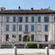Gaggiano (Milan), historic palace - Stock Photo
