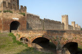 Montagnana (Padova, Veneto, italy) - Medieval walls — Stock Photo
