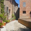 Sarnano (Macerata, Marches, Italy) - Old village - Stock Photo