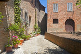 Sarnano (Macerata, Marches, Italy) - Old village — Stock Photo