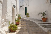 Ostuni (Brindisi, Puglia, Italy) - Old town — Stock Photo