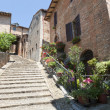 Sarnano (Macerata, Marches, Italy) - Old village - Foto Stock