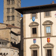 Medieval buildings in Arezzo (Tuscany, Italy) - Stok fotoraf