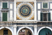 Brescia (Lombardy, Italy), Historic building in Loggia Square, c — Stock Photo