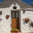 Alberobello (Bari, Puglia, Italy): House in the trulli town - Stock Photo