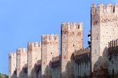 Montagnana (padova, veneto, italien) - mittelalterlichen mauern — Stockfoto