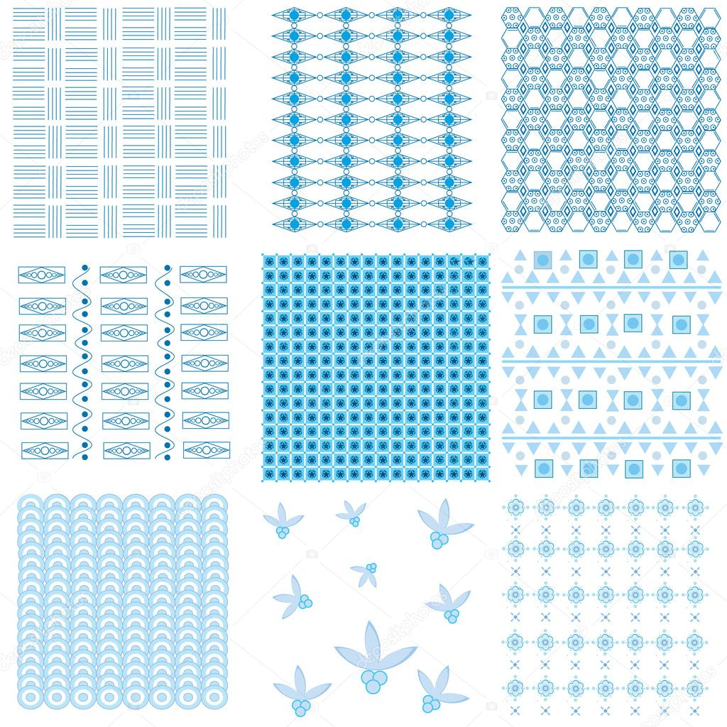 In drawing it is represented nine kinds of patterns. — Stock Vector #6326898
