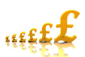 Rising Pound Sterling — Stock Photo
