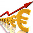 Rising Euro — Stock Photo
