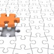 Teamwork Jigsaw — Stock Photo