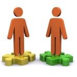 Teamwork Jigsaw — Stock Photo