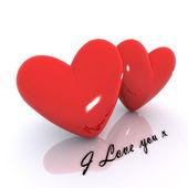 Love hjärtan — Stockfoto