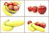 Apfel und Banane — Стоковое фото