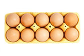 Ten eggs — Stock Photo