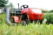 草坪拖拉机 — 图库照片