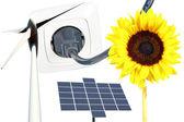 Fuentes renovables de energía — Foto de Stock