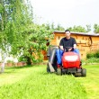 Lawn tractor — Stock Photo #6627819