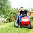 Lawn tractor — Stock Photo #6628041
