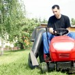 Lawn tractor — Stock Photo #6628147