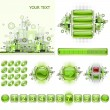 Royalty-Free Stock Vector Image: GUI widgets and web design elements set.