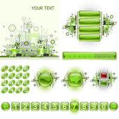 GUI widgets and web design elements set. — Stock Vector