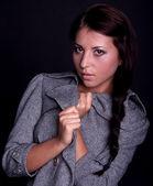 Woman in coat — Stock Photo