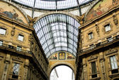 Gallery Vittorio Emanuele in Milan — Stock Photo
