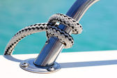 Knot on a boat — Stock Photo