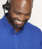Handsome South African Call Centre Man — Stock Photo