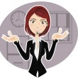 Stock Vector: Confident Customer Service Representative explaining procedure
