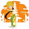 Royalty-Free Stock Vector Image: Balinese Dancer