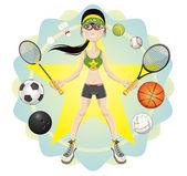 Sporty Girl — Stock Vector