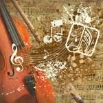 Retro musical grunge background — Stock Photo #6351711