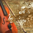 Stockfoto: Retro musical grunge background