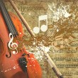 Retro musical grunge background — Foto de stock #6351717